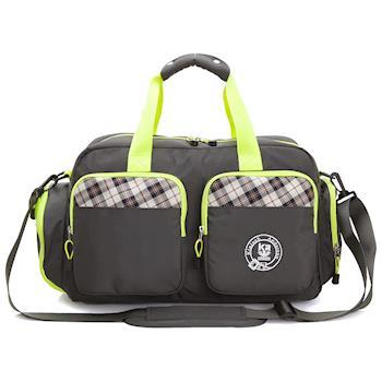 【金安德森】中款旅行袋 跳躍時空 機能雙口袋手提-復古灰(KA164402GYF)