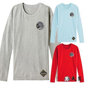 【男人幫 】印地安酋長布標棉質長袖T恤(T5585)