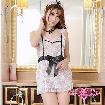 天使霓裳 角色扮演 浪漫服侍 情趣女僕裝蕾絲圍裙(白F) GS1502