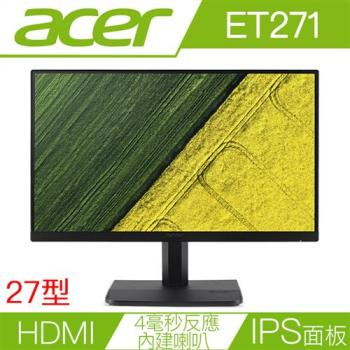 Acer 宏碁ET271 27型IPS無邊框螢幕