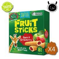 紐西蘭 壽滿趣 Mother Earth 烘焙水果棒x4盒(蘋果草莓口味)