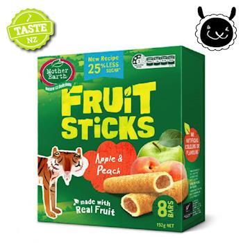 紐西蘭 壽滿趣 Mother Earth 烘培水果棒x1盒(蘋果水蜜桃口味)