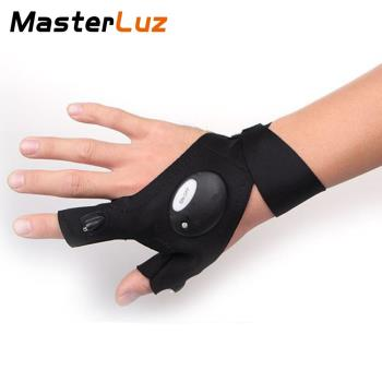 MasterLuz G12 戶外照明LED夜釣帶燈釣魚手套