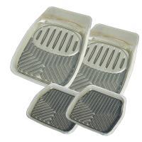 3D凹槽汽車踏墊全車份-煙灰(車用|防塵|止滑墊)