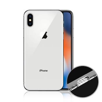 水漾 Apple iPhone X 一體全包式帶防塵塞透明TPU軟殼