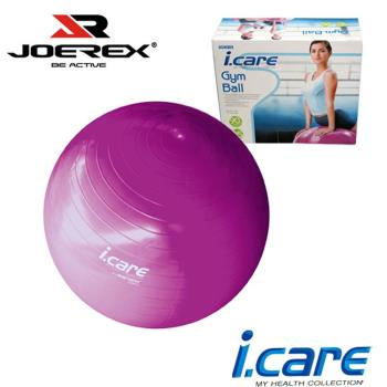 JOEREX。 艾可兒健身球/韻律球/瑜珈球/彈力球/塑身球(附打氣筒)-JIC019