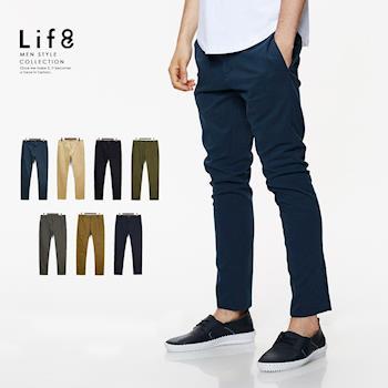 life8-Casual 高磅彈力 磨毛修身長褲-02424