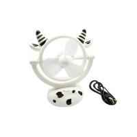 小牛造型可愛USB迷你風扇 (2入)