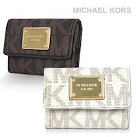 MICHAEL KORS 鐵牌滿版鑰匙圈/零錢包(兩色選)