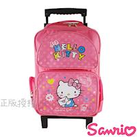 【Hello Kitty凱蒂貓】點點三段式拉桿後背書包(粉色)