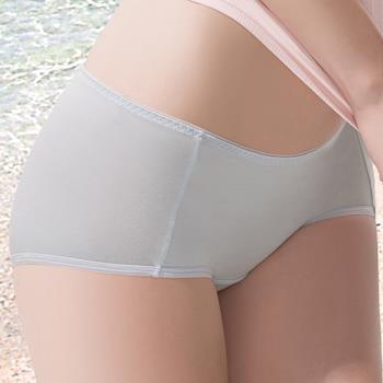 華歌爾-COOL冰涼褲M-LL中低腰平口褲(冰凍灰)
