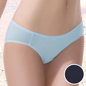 華歌爾-COOL冰涼M-LL低腰三角褲(冰酷黑)