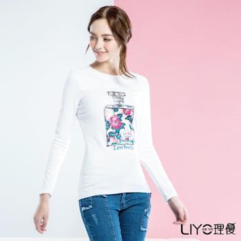 LIYO理優 韓風香水印花T恤532019