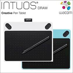 Wacom Intuos Draw 塗鴉創意 繪圖板-時尚藍(S) CTL-490_B0/簡約白(S) CTL-490_W0 (外盒輕微受損商品)