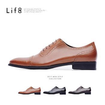 Life8-Formal Nappa牛皮 繫帶牛津紳士皮鞋-09704-咖色/棕色/黑色
