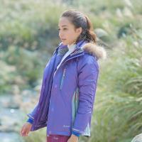 【拓荒者】5W201女兩件式防水羽絨中長外套