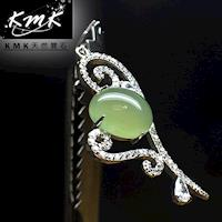 KMK天然寶石~6克拉~南非辛巴威天然綠玉髓~項鍊