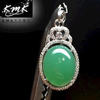 KMK天然寶石~19克拉~南非辛巴威天然綠玉髓~項鍊