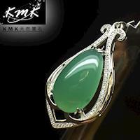 KMK天然寶石【15.4克拉】南非辛巴威天然綠玉髓-項鍊