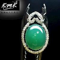 KMK天然寶石~16克拉~南非辛巴威天然綠玉髓~項鍊