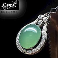 KMK天然寶石~10克拉~南非辛巴威天然綠玉髓~項鍊