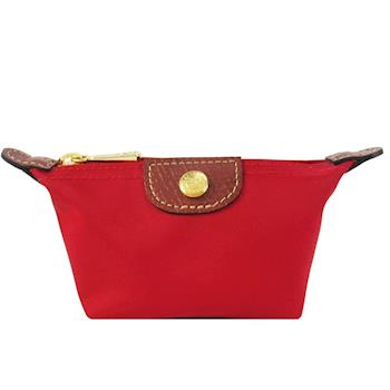 LONGCHAMP Le Pliage 水餃型零錢包(紅)