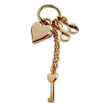 agnes b.愛心鎖頭鑰匙圈(可拆/金)