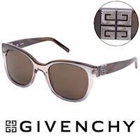 GIVENCHY 法國魅力紀梵希都會玩酷大理石紋造型太陽眼鏡(褐)- GISGV826-0AG1