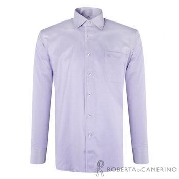 ROBERTA諾貝達 台灣製 嚴選穿搭 細條紋長袖襯衫RDD43-23紫色