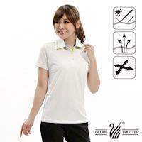 【遊遍天下】女款吸濕排汗機能POLO衫GS10019G(白色)
