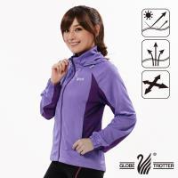 【遊遍天下】女款吸濕排汗防曬連帽外套GJ10010(紫色)