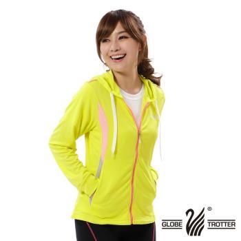 【遊遍天下】女版吸濕排汗防曬連帽外套GJ10007(黃色)