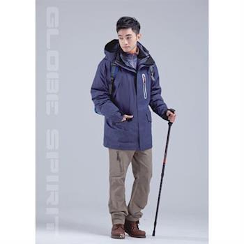 【拓荒者】4W121男三件式防水羽絨中長外套