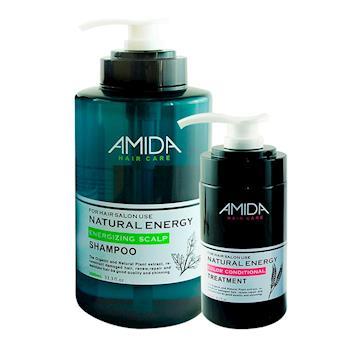 AMIDA平衡組(平衡去脂洗髮精1000ml+角質蛋白護髮素250ml)