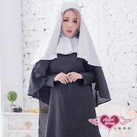 天使霓裳 角色扮演 純淨祈禱 修女萬聖節表演派對服(黑F) SS89171