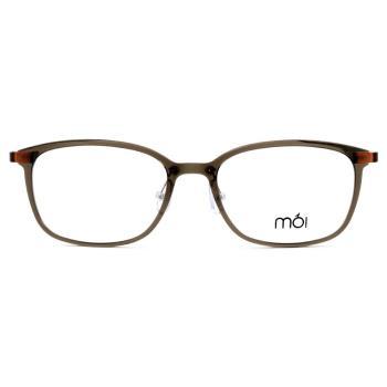 moi 北歐超柔無負擔光學眼鏡 - 棕灰 moi04-02