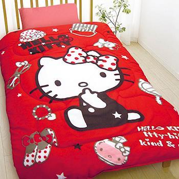 【HELLO KITTY】經典暖冬超殺毯被組