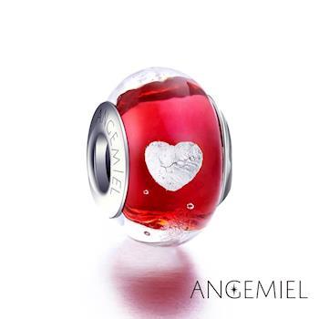 Angemiel安婕米 義大利925純銀 紅色熱戀 琉璃珠