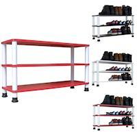 【Dr. DIY】寬80公分-三層[寬型]鞋架/鞋櫃/置物架(三色可選)