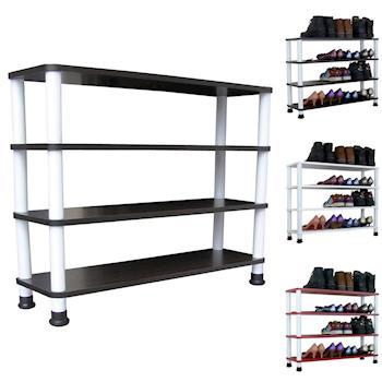 【Dr. DIY】寬80公分-四層[寬型]鞋架/鞋櫃/置物架(三色可選)