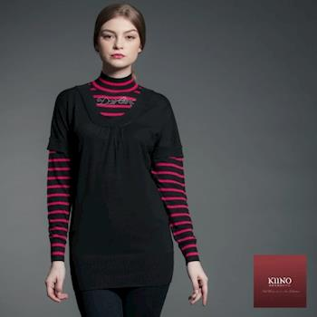 【KIINO】時尚海軍風亮點針織羊毛衫(黑3822-1064)