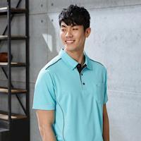 【LEIDOOE】英文花紋男款休閒短袖POLO衫16581