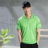 【LEIDOOE】黑條紋男款休閒短袖POLO衫16561