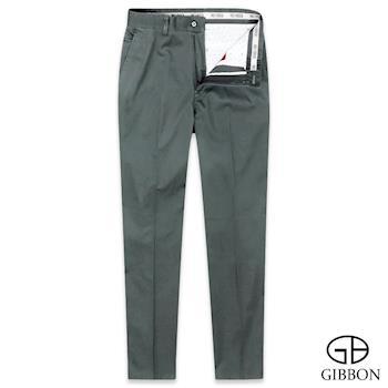 GIBBON 型男修身微彈舒適休閒褲‧鐵灰31-42