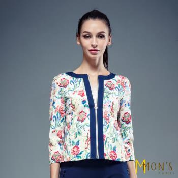 MONS法式浪漫手工繡花七分袖外套