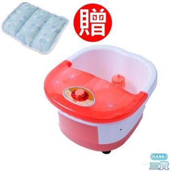 日本Sanki SPA加熱足浴機 (蜜桃粉) 限量款+ 3D網冰涼枕座墊4入