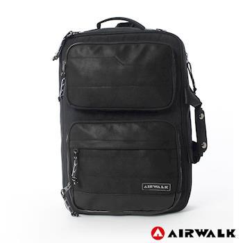 【美國 AIRWALK】風采絲紋筆電後背包 - 共二色