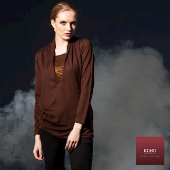 【KIINO】亮點 - 當流行元素轉角遇上傳統針織衫(咖啡3842-1227)