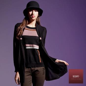 【KIINO】時尚帥氣十足兩假件針織衫(3842-1808)