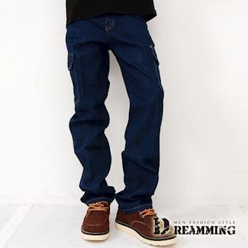 【Dreamming】多袋直筒單寧工作褲